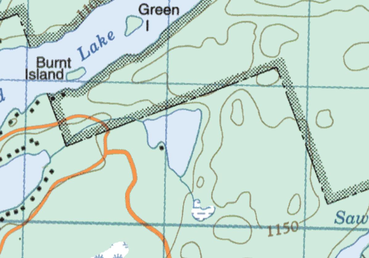 Topographical Map of Hart Lake -  - Muskoka