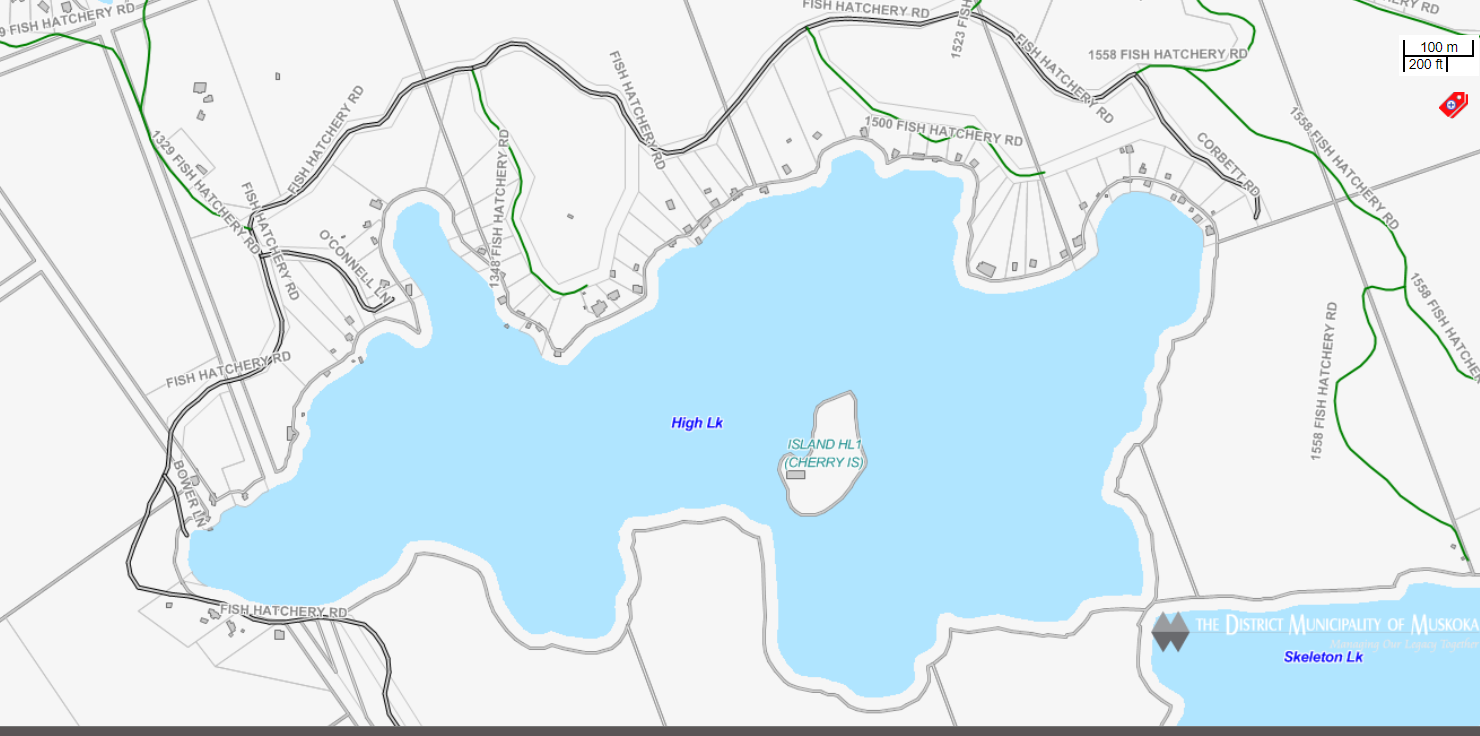 Cadastral Map High Lake -