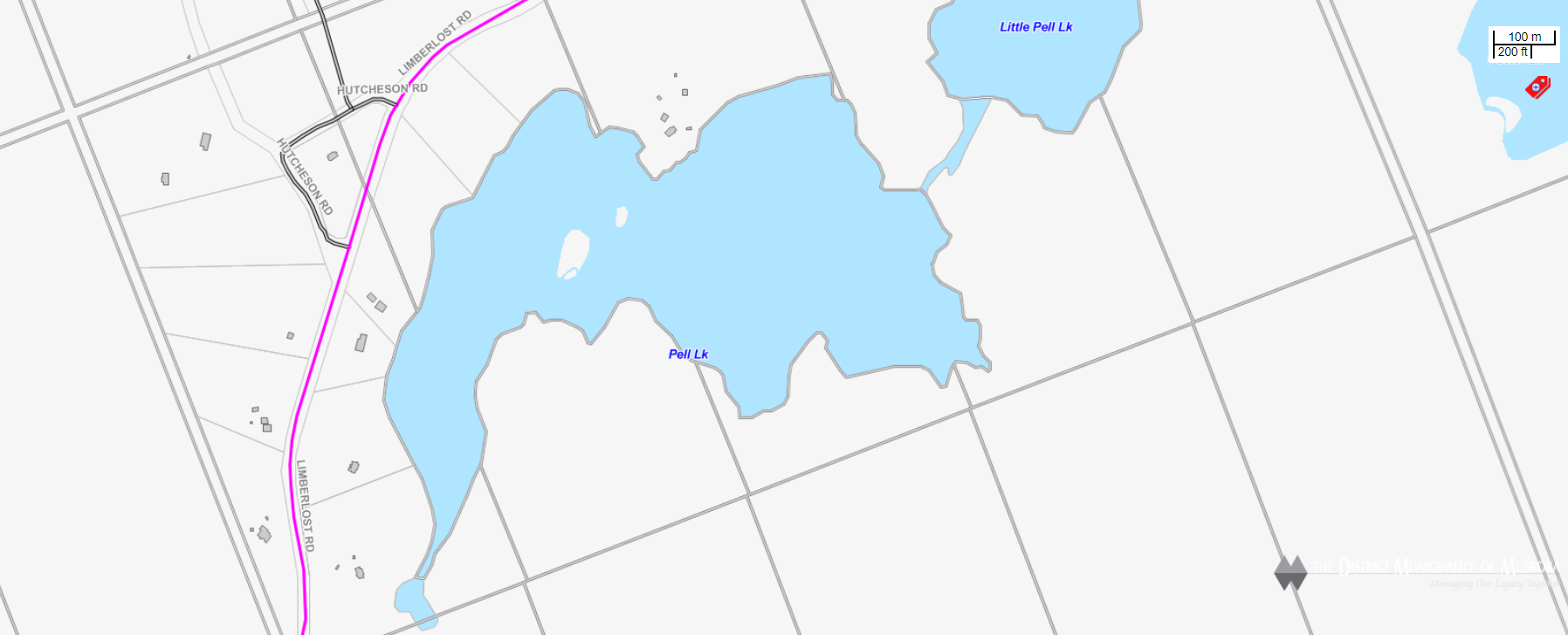 Cadastral Map Pell Lake -