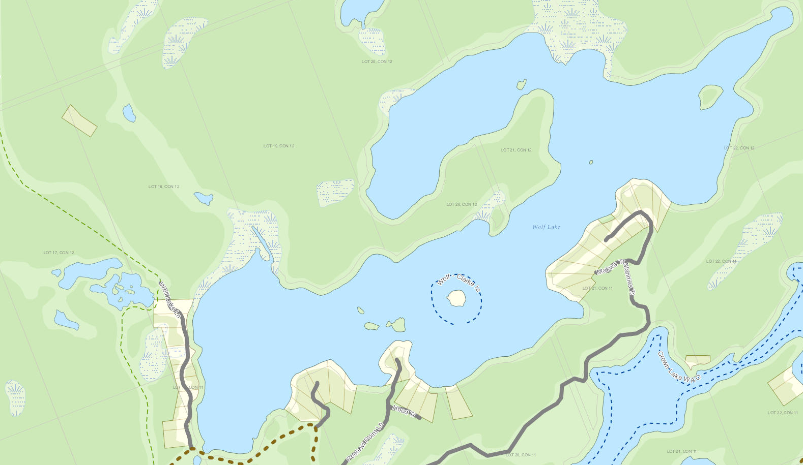 Bear Lake Cadastral Map - Bear Lake - Muskoka