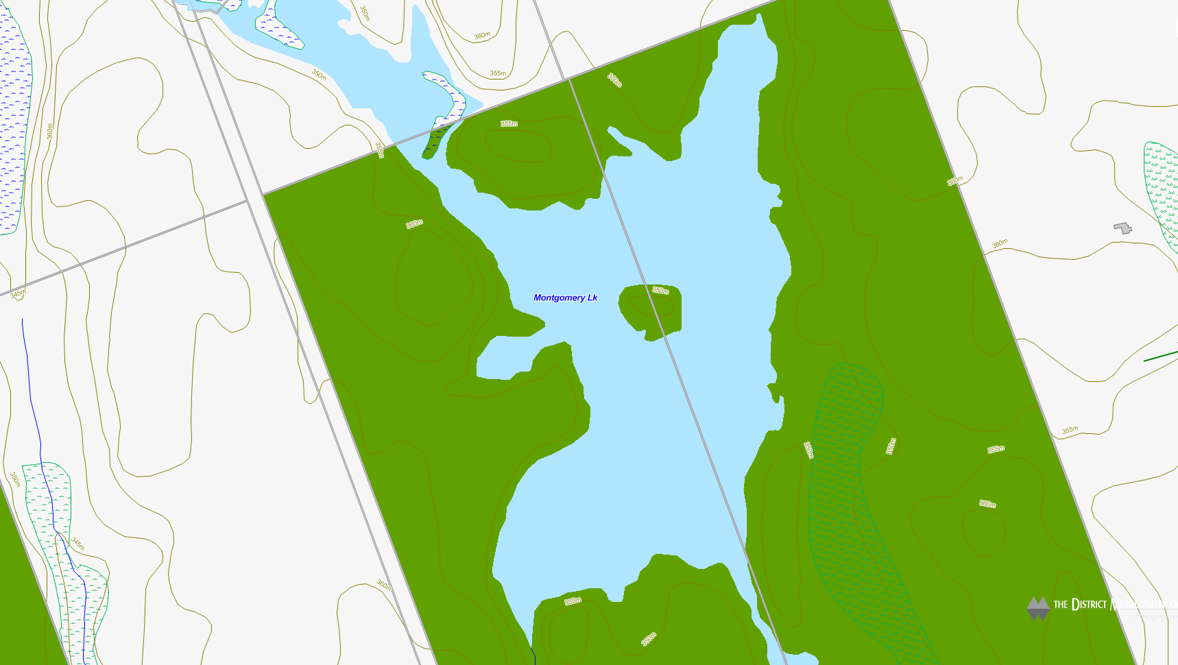 Moot Lake Cadastral Map - Moot Lake - Muskoka