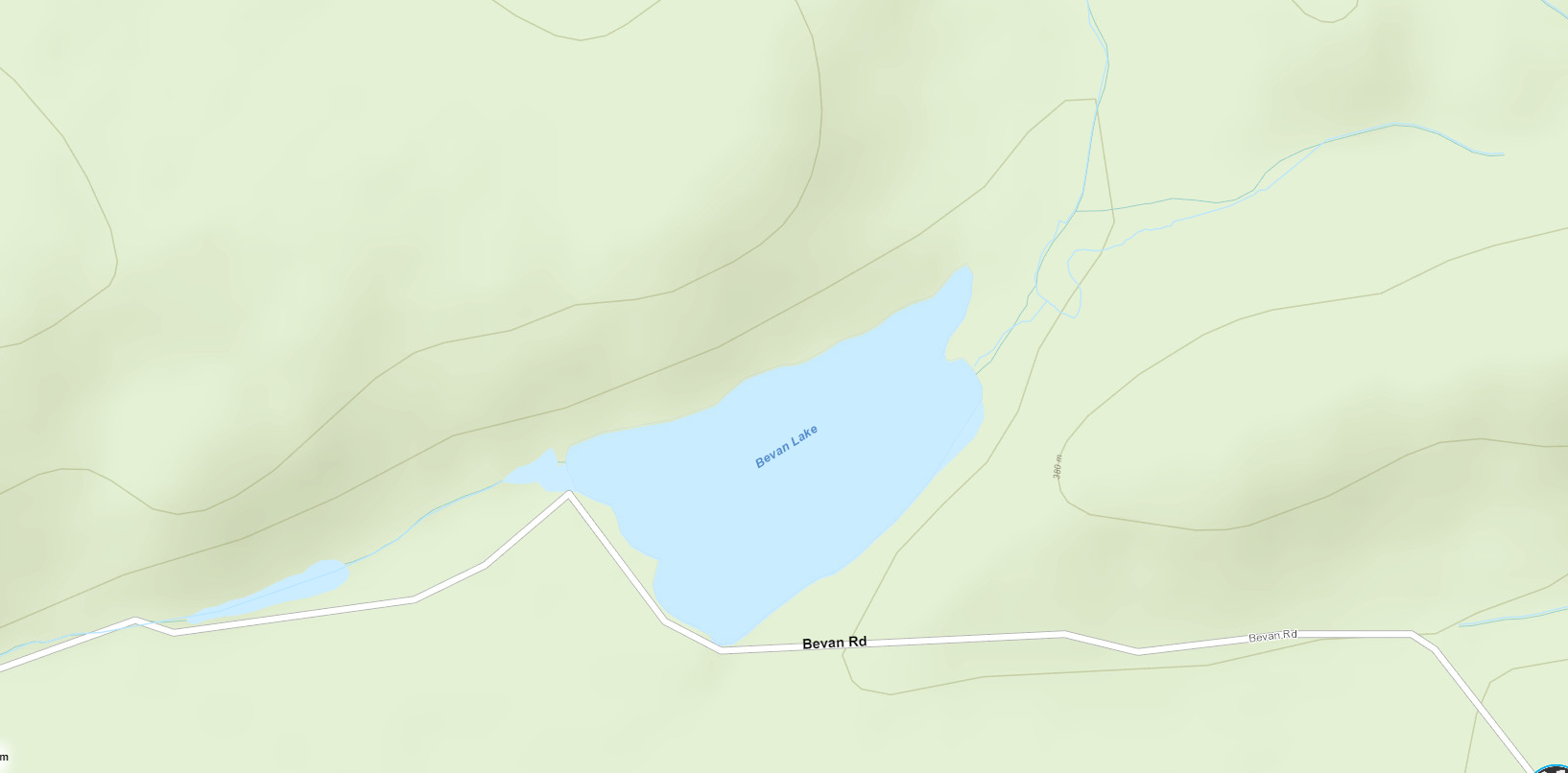 Bevan Lake Cadastral Map - Bevan Lake - Muskoka