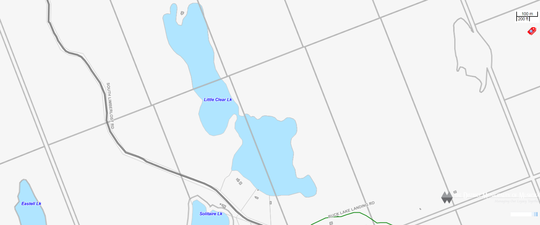 Cadastral Map Little Clear Lake -