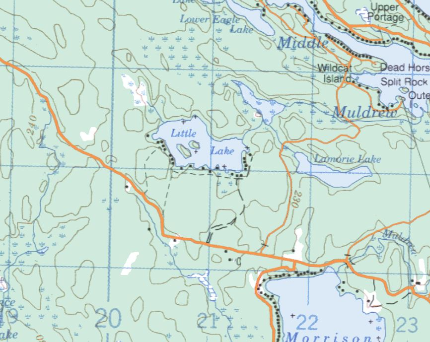 Topographical Map of Little Lake -