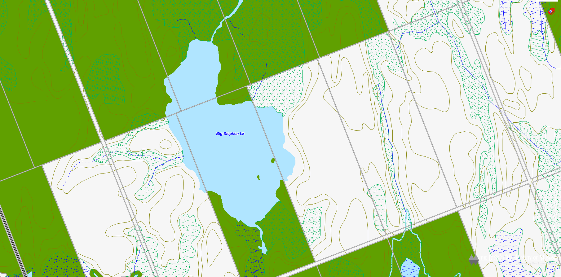 Big Stephen Lake Cadastral Map - Big Stephen Lake