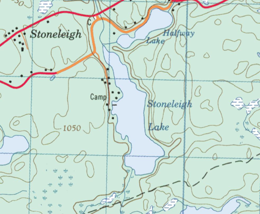 Topographical Map of Stoneleigh Lake -
