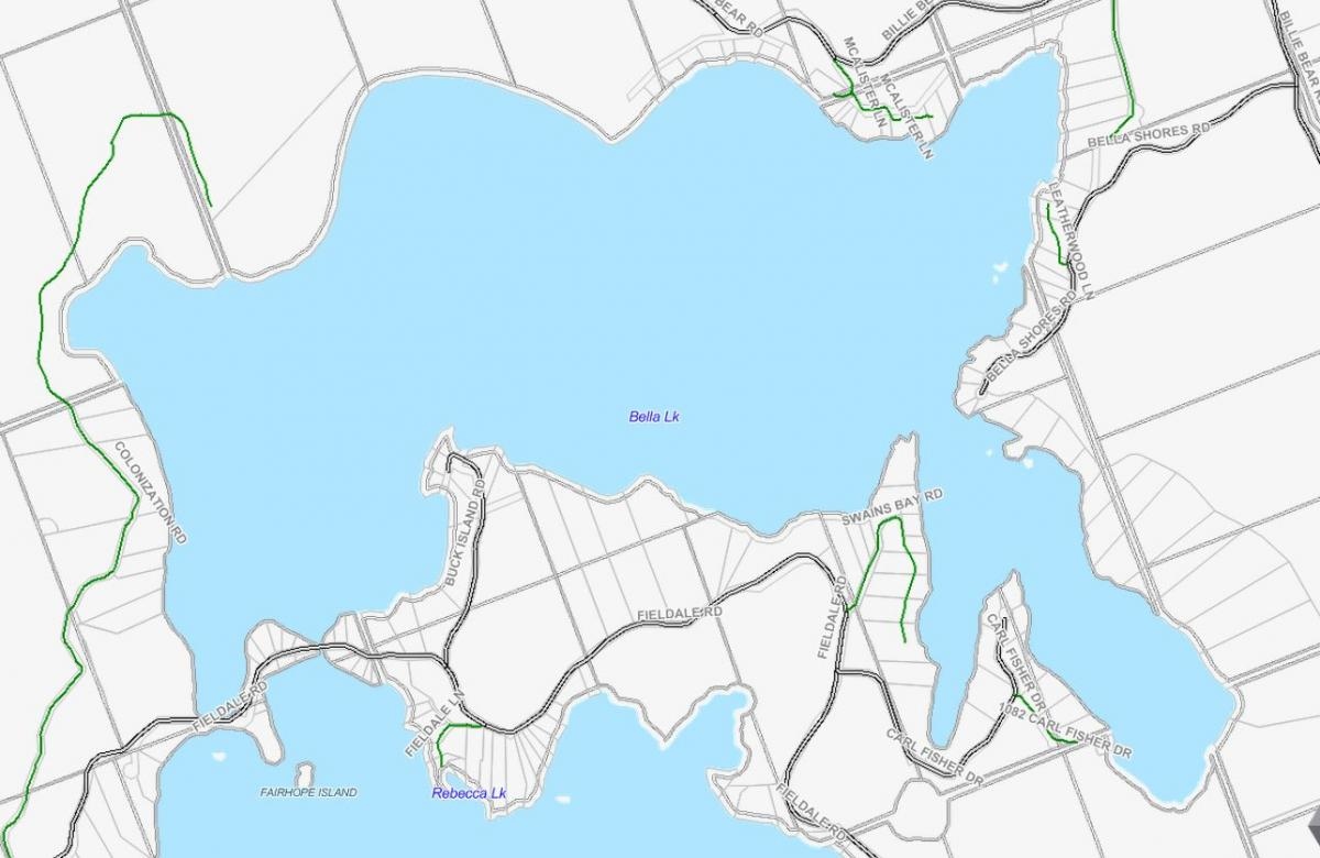 Cadastral Map of Bella Lake - Bella Lake - Muskoka