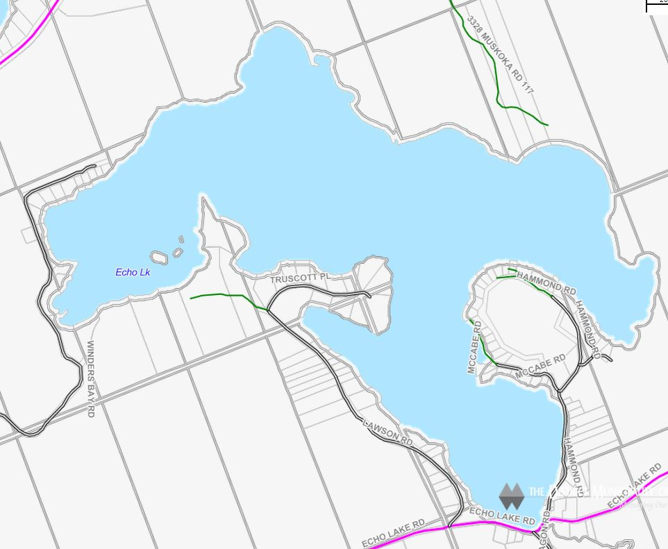 Cadastral Map of Echo Lake - Echo Lake
