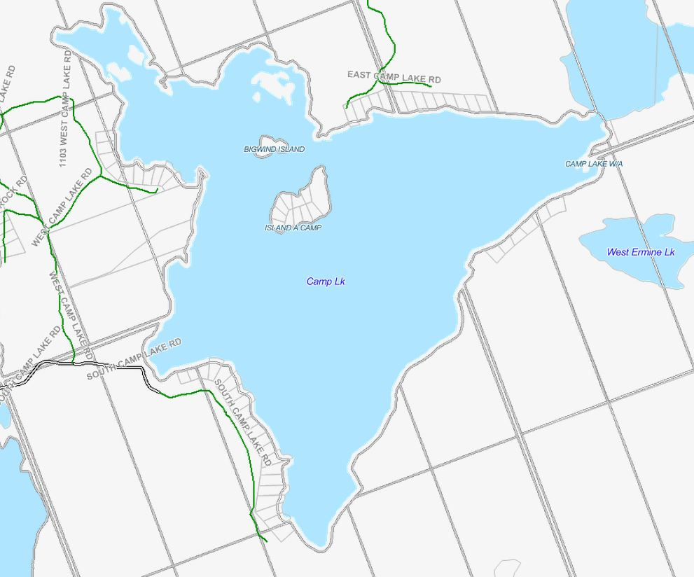 Cadastral Map of Camp Lake - Camp Lake - Muskoka
