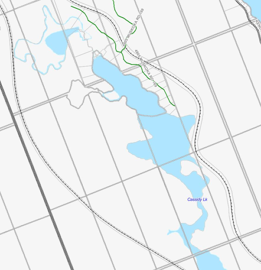Cadastral Map of Cassidy Lake - Cassidy Lake