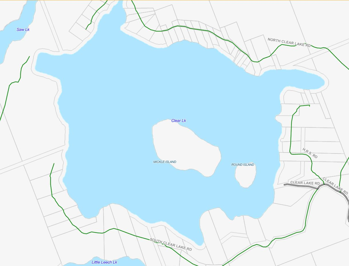 Cadastral Map of Clear Lake - Clear Lake