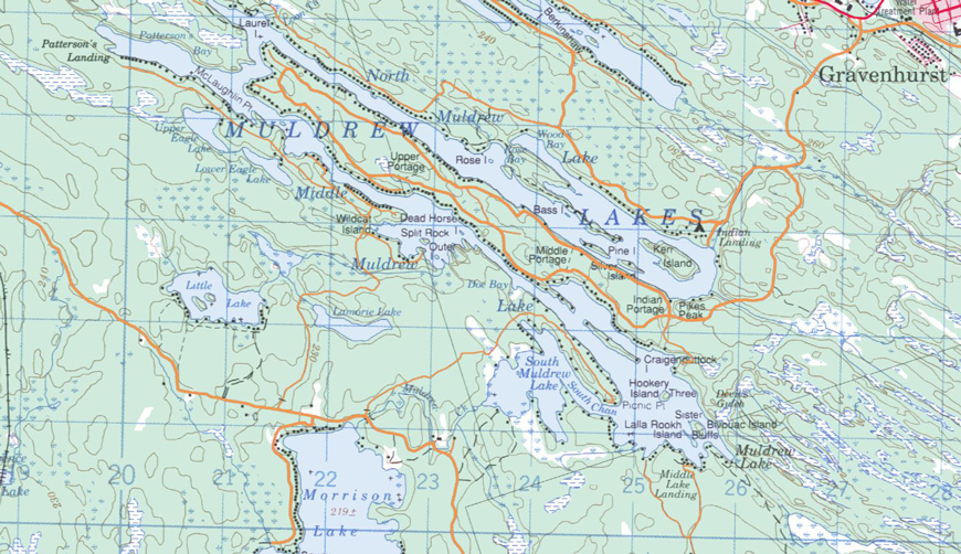 Cadastral Map of Muldrew Lake - Muldrew Lake - Muskoka