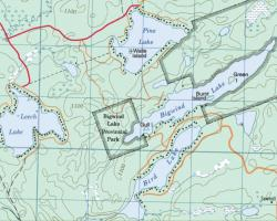 Topographical Map of Bigwind Lake