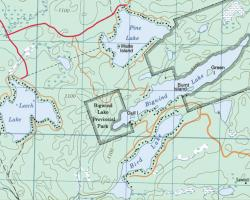 Topographical Map of Bird Lake