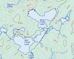 Topographical Map of Blue Chalk Lake