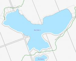 Cadastral Map of Blue Chalk Lake