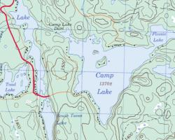 Topographical Map of Camp Lake