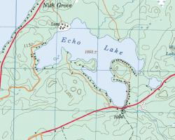 Echo Lake Topographical Map