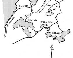 Echo Lake Water Flow Map