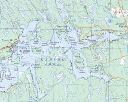 Topographical Map of Kahshe Lake
