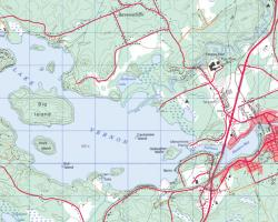 Topographical Map of Lake Vernon