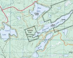 Topographical Map of Leech Lake