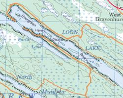 Topographical Map of Loon Lake