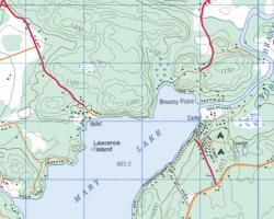 Topographical Map of North Mary Lake