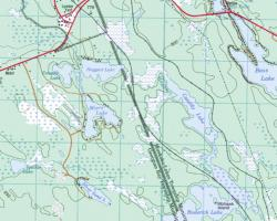 Topographical Map Myers Lake