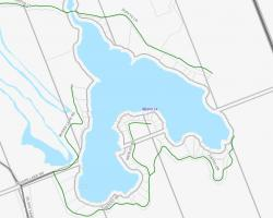 Cadastral Map of Myers Lake