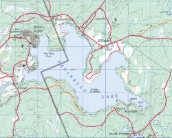 Topographical Map of Peninsula Lake