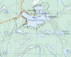 Topographical Map of Prospect Lake