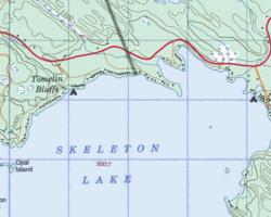 Topographical Map of North Skeleton Lake