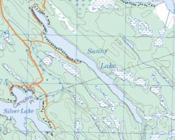 Topographical Map of Sunny Lake