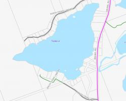 Cadastral Map of Tooke Lake